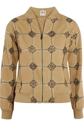 HAUTE HIPPIE Believe, Belive in Me, Better Me embellished cotton jacket