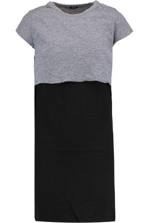 MONROW Stretch-jersey T-shirt and crepe mini dress set