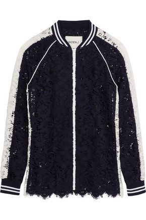 GOEN.J Two-tone corded lace jacket