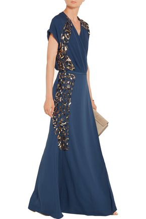BY MALENE BIRGER Wynona embellished crepe maxi dress