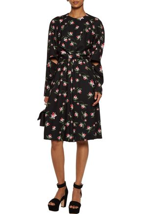 PREEN by THORNTON BREGAZZI Aaron cutout knotted floral-print crepe midi dress