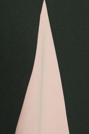 RAOUL Lalia Godet two-tone crepe mini dress