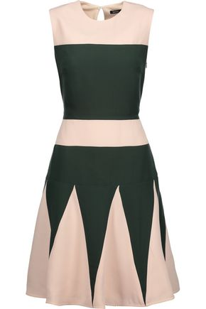 RAOUL Lalia Godet two-tone crepe mini dress