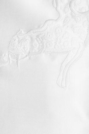 STELLA McCARTNEY Anya embroidered cotton-blend mini dress