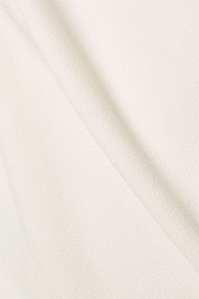 VIONNET Appliqu&eacuted mesh-paneled crepe dress