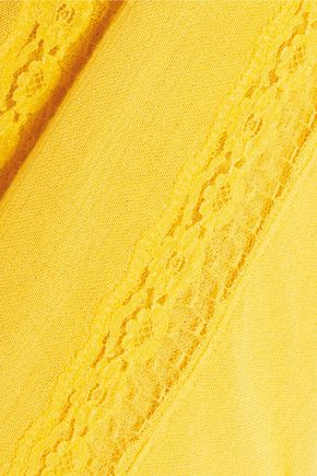 ALICE + OLIVIA Joy crochet-trimmed gauze maxi dress
