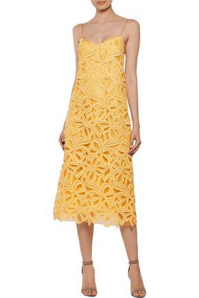ROCHAS Cotton-blend guipure lace midi dress