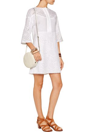 M.I.H JEANS Amo broderie anglaise linen and cotton-blend mini dress