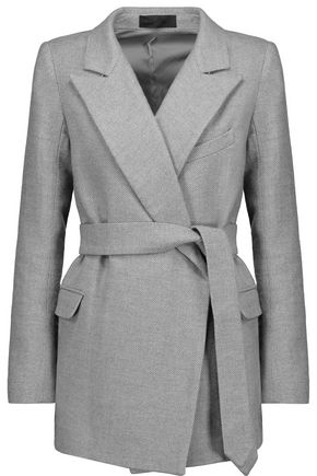 CO Belted wool and silk-blend tweed jacket