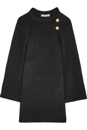 VANESSA BRUNO Cape-back wool and cashmere-blend mini dress
