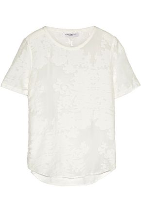 EQUIPMENT Riley fil coupé cotton and silk-blend voile top