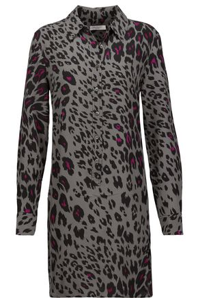 EQUIPMENT Lucida leopard-print washed-silk mini dress