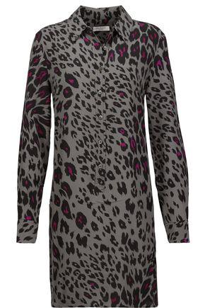 EQUIPMENT Lucida leopard-print washed-silk mini dress