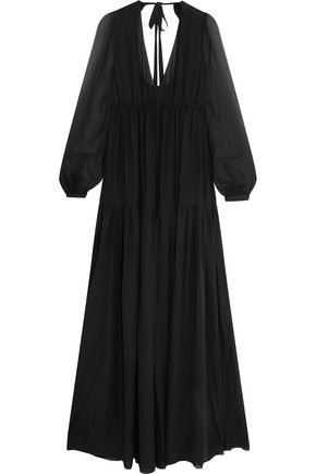 ROCHAS Silk-chiffon maxi dress