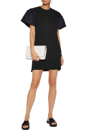 MOTHER OF PEARL Rena jacquard-trimmed cotton-jersey mini dress
