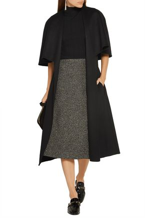 ROSETTA GETTY Cape-effect wool gilet