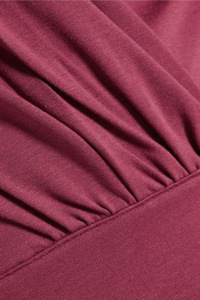 IRIS AND INK Louisa wrap-effect stretch-jersey midi dress
