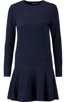 GANNI Mercer ruffled merino wool-blend mini dress