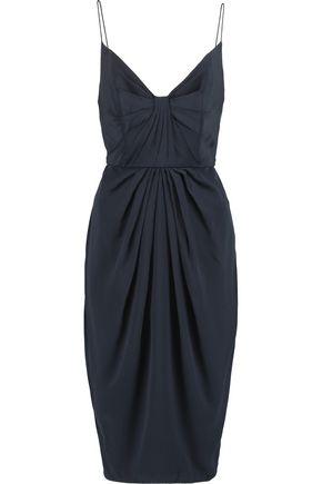 ZIMMERMANN Gathered washed-silk dress