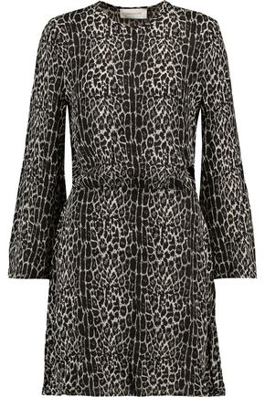 ZIMMERMANN Leopard-print crepe mini dress