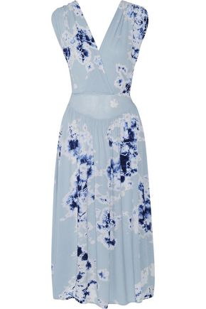 KAIN LABEL Athena wrap-effect tie-dyed gauze midi dress