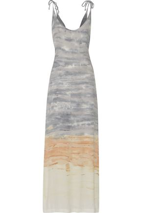 KAIN Phoenix tie-dyed crepe de chine maxi dress