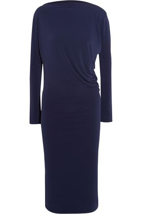 BY MALENE BIRGER Wafinni ruched stretch-crepe midi dress