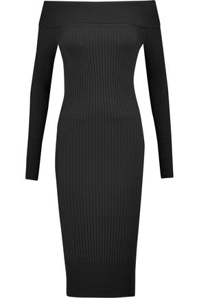 BY MALENE BIRGER Hoppes off-the-shoulder ribbed-knit dress