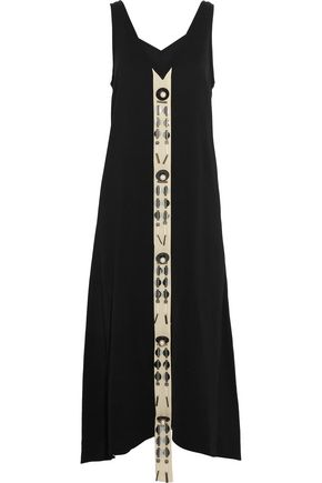 BY MALENE BIRGER Awitt faux-pearl and sequin-embellished crepe maxi dress