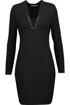 TART Honora lace-up stretch-modal mini dress