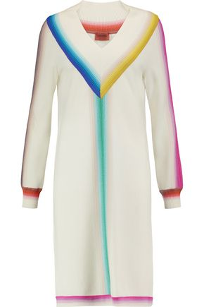 MISSONI Rib-trimmed wool dress