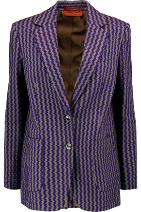 MISSONI Crochet-knit wool-blend blazer