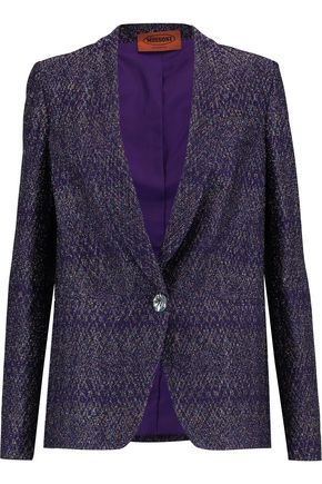 MISSONI Metallic crochet-knit blazer
