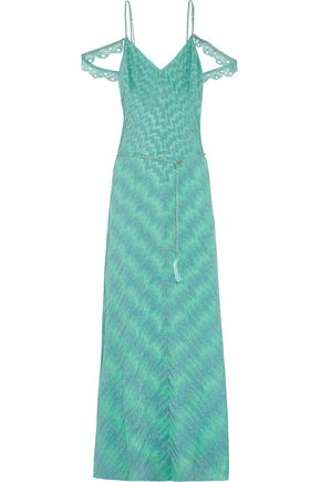 MISSONI Metallic stretch-knit maxi dress