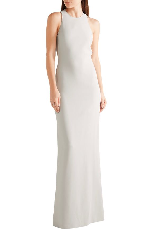 94171335a73 Open-back stretch-cady gown