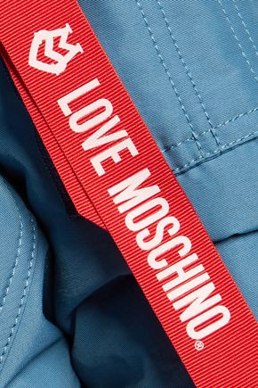 LOVE MOSCHINO Cropped padded cotton-blend bomber jacket