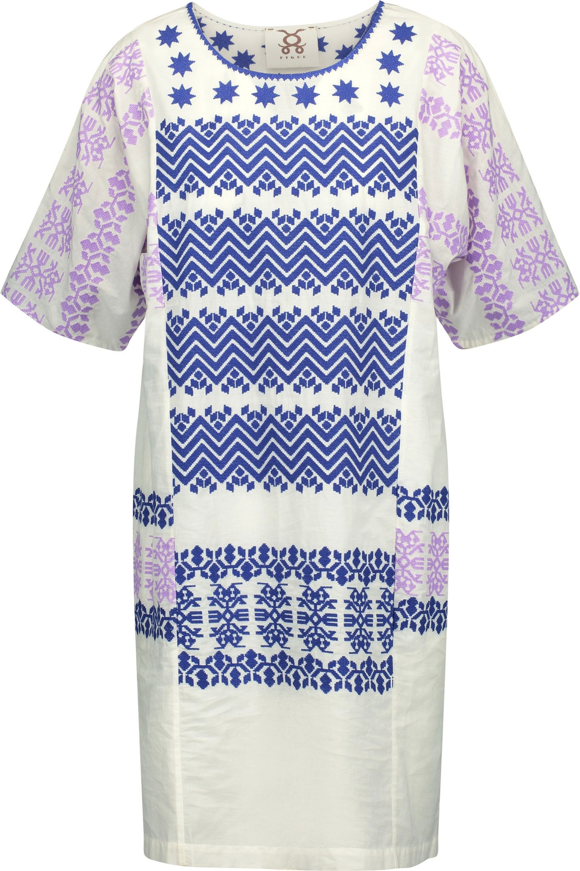 Cheap New Figue Woman Luz Embroidered Cotton-broadcloth Mini Dress White Size XXS Figue Newest Sale Online Outlet Websites Clearance 100% Authentic lkgKv39x5