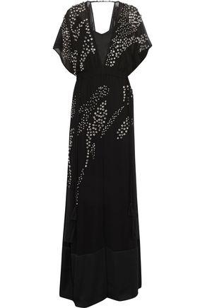 BY MALENE BIRGER Carizana satin-paneled crystal-embellished chiffon gown