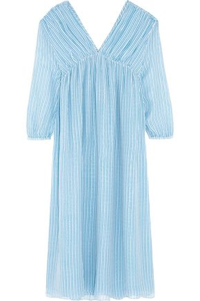 M.I.H JEANS Petaluma striped silk-georgette midi dress
