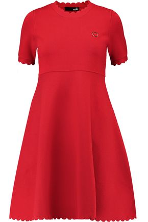 LOVE MOSCHINO Textured stretch-knit dress