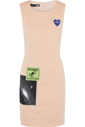 LOVE MOSCHINO Appliquéd cotton-blend dress