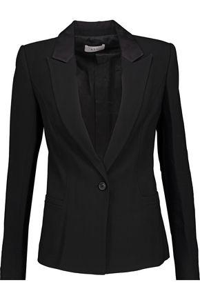 A.L.C. Daniel satin-trimmed crepe blazer