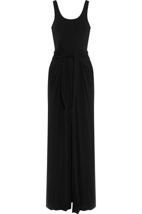 L'AGENCE Melissa tie-front ponte maxi dress