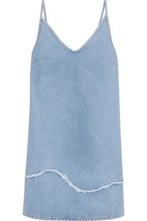 M.I.H JEANS Frayed denim mini dress