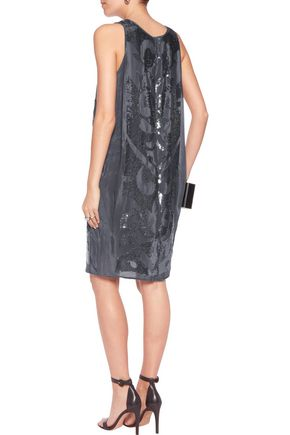 VELVET by GRAHAM & SPENCER Sequined crepe de chine mini dress