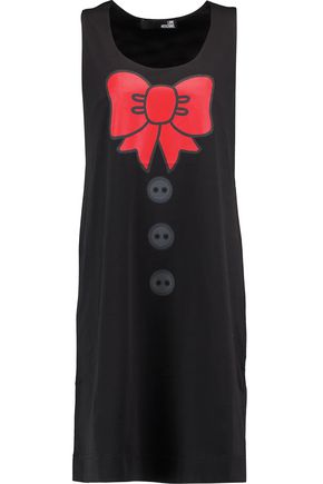 LOVE MOSCHINO Printed cotton-jersey dress