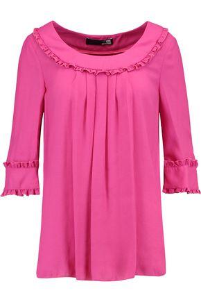 LOVE MOSCHINO Ruffled crepe blouse