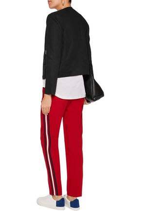 LOVE MOSCHINO Cropped cotton and linen-blend jacket