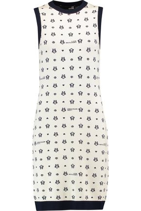 LOVE MOSCHINO Intarsia-knit mini dress