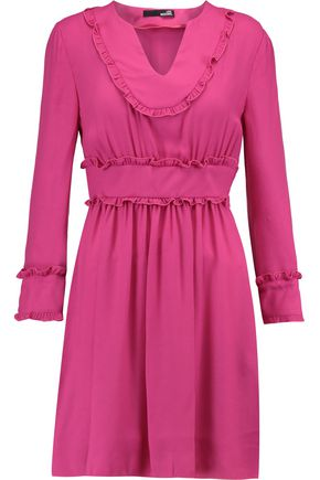 LOVE MOSCHINO Ruffled crepe mini dress